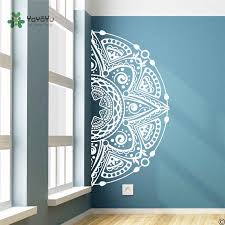 Bohemian Half Mandala Wall Decals Bedroom Yoga Decal Boho Decor Mandala Flower Decal Headboard Master Bedroom Vinyl Stickerzw248 Wall Stickers Aliexpress