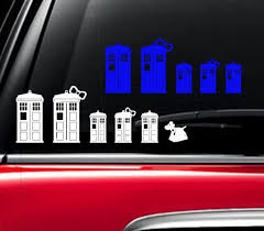 Doctor Who Inspired Tardis Family Car Decal Dr Who Sticker Dr Who Decal Doctor Who Sticker Dr Who Car Doctor Who Car Family Decals Family Car Decals Family Car