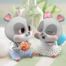 Tuyển tập 50 hình ảnh và hình nền cặp đôi chuột chibi cực dễ thương