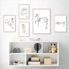 Picasso Animal Art Sketches Mix Match Gallery Wall 1 Gallery Wallrus Free Worldwide Shipping
