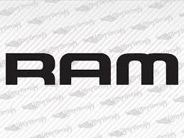 Dodge Ram Logo Decal Stickers
