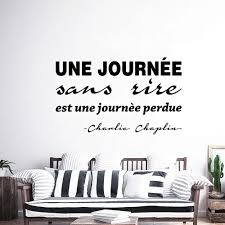 Vova Wall Sticker Journee Sans Rire Est Une Journee Perdue Vinyl Wall Art Decal Living Room Home Decor Poster French Quote Wall Decor