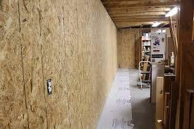 sheathing garage walls with plywood