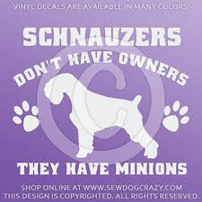 Schnauzer Minions Decal Sew Dog Crazy