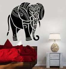 Vinyl Wall Decal India Elephant Animal India Hindu Stickers 778ig Ebay