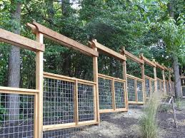 Deer Proof Cedar Fence With Goat Panel Bottom By Bloomingsmith Lumberjocks Com Woodworking Community