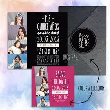 Tarjeta Invitacion 15 Anos Estilo Photo Booth Cabina Colores A