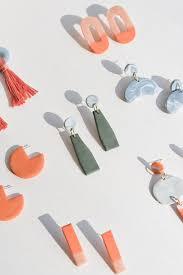 clay earrings diy clay jewelry