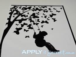 Wall Decal Medium Black Tree Butterflies Applyityourself