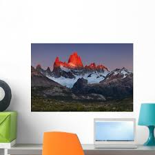 Mount Fitz Roy Sunrise Wall Decal By Wallmonkeys Peel And Stick Graphic 24 In W X 16 In H Wm143242 Walmart Com