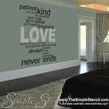 Love Is Patient Love Is Kind Love Quote Vinyl Wall Decal The Simple Stencil