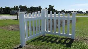 Angled Corner Picket Fence Driveway Garden Accent White Vinyl Pvc Kit Ebay