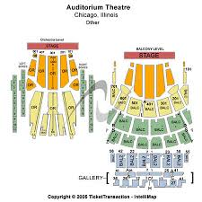auditorium theatre seat map