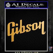 Gibson Guitars Logo Decal Sticker D3 A1 Decals