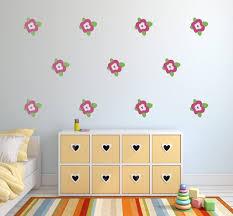 Flower Wall Decals Floral Nursery Wall Art Garden Theme Etsy