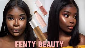 fenty beauty dark skin makeup tutorial