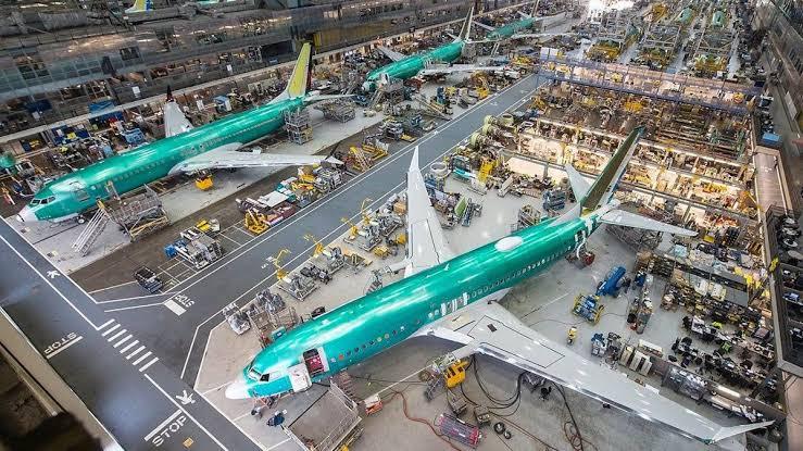 "Resultado de imagen para Boeing 737 MAX assembly line"""