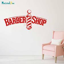 Barber Shop Decal Haircut Window Sticker Barbers Pole Hair Salon Decoration Removable Vinyl Wall Stickers Wallpaper B573 Wall Stickers Aliexpress