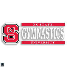 Nc State Wolfpack Gymnastics Vinyl Decal Red And White Shop