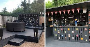this pallet bar in my backyard cost me