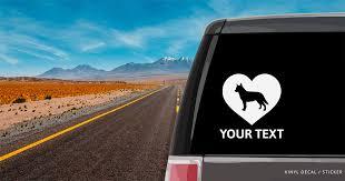 Australian Cattle Dog Heart Car Window Decal Vinyl Sticker Custom Gifts Etc
