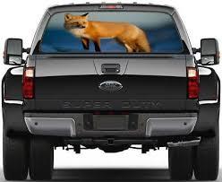 Fox Animals Rear Window Decal Graphic Sticker Car Truck Suv Van 694 Ebay