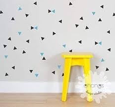 Amazon Com Triangle Wall Decal 2 Color Triangle Mini Triangle Sticker Modern Wall Decal Kids Room Decal Home Decor Handmade
