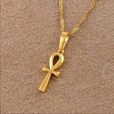 nt18k gold plated smallankh pendant