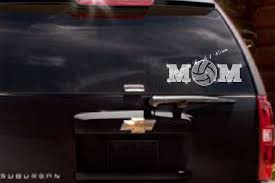 Rhinestone Volleyball Mom Car Decal