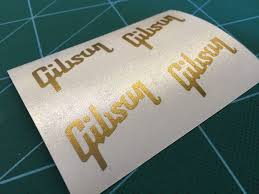 2x Pair Gold Headstock Replacement Gibson Les Paul Model Vinyl Decal Vinyl Decals Vinyl Gibson Les Paul