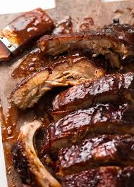 oven pork ribs with barbecue sauce