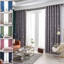 Star Print Blackout Curtains For Kids Room Thick Thermal Insulated Window Drapes Multi Style Walmart Com Walmart Com