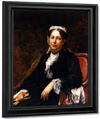 Abigail Brooks Adams By William Morris Hunt Reproduction