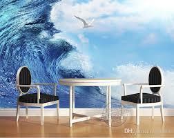 3d Ocean Sea Mew Photo Wallpaper Modern Giant Wall Mural Silk Wallpaper Art Painting Bedroom Kids Children Room Decor Home Decoration Nature Wallpaper Free Down Modern Wallpaper Kid Room Decor Wall