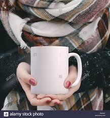 winter mug mock up white blank coffee mug to add custom design or