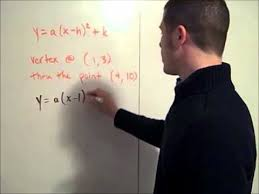 quadratic equation from two points