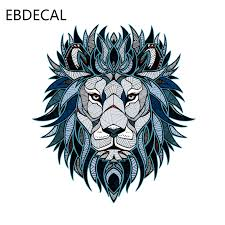 Ebdecal Creative Lion Head Pattern Decal For Auto Car Bumper Window Wall Decal Sticker Decals Diy Decor Ct5562 Car Stickers Aliexpress