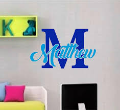 Beautiful Boys Girls 2 Color Name And Letter Vinyl Decal Azvinylworks