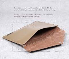 genuine leather envelope style sleeve