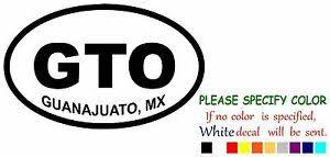 Guanajuato Gto 1 Mexico State Map Funny Vinyl Decal Sticker Car Window 7 Ebay