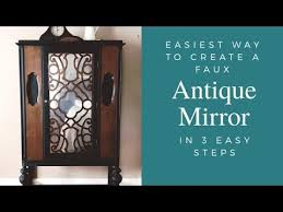 easiest way to make a faux antique mirror