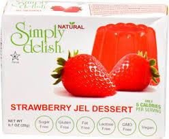 simply delish natural jel dessert sugar