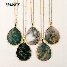 water drop shape natural stone pendants