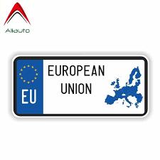 Aliauto Personality European Union Car Sticker Decal Automobile Motorcycle Reflective Accessories Pvc For Honda Toyota 15cm 6cm Car Stickers Aliexpress