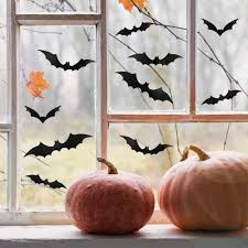 3d Scary Bats Wall Decal Swarm Your Home With Spookiness With These Black Bat Wall Decor Options Popsugar Home Photo 4