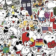 20 40 60pcs Funny Cute Snoopy Stickers For Laptop Car Styling Phone Luggage Bike Motorcycle Mixed Cartoon Pvc Waterproof Cartoon Decal Wish