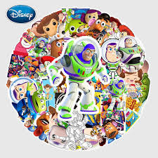 Disney 53pcs Toy Story Cartoon Stickers For Car Styling Bike Motorcycle Phone Laptop Travel Luggage Cool Funny Sticker Jdm Decal Stickers Aliexpress