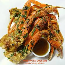 Oven Roasted Garlic Crab Recipe ...