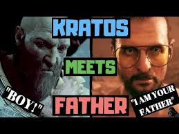 kratos meets father god of war vs far cry mash up funny