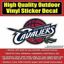 Cleveland Cavaliers Cavs Vinyl Bumper Car Window Sticker Decal Ebay